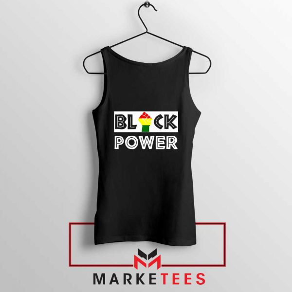 Black Power Rainbow Fist Tank Top