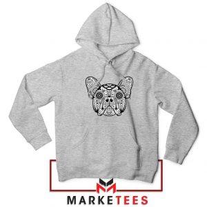 Bulldog Sugar Skull Sport Grey Hoodie