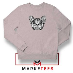 Bulldog Sugar Skull Sport Grey Sweatshirt