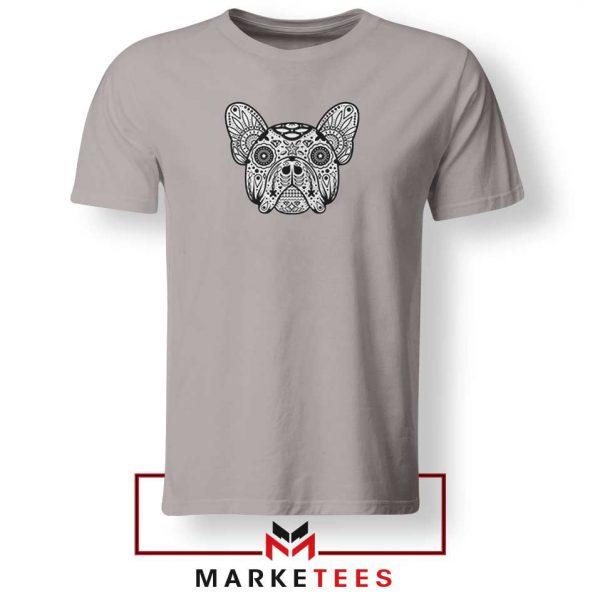 Bulldog Sugar Skull Sport Grey Tshirt