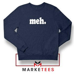 Cheap Meh Navy Blue Sweatshirt