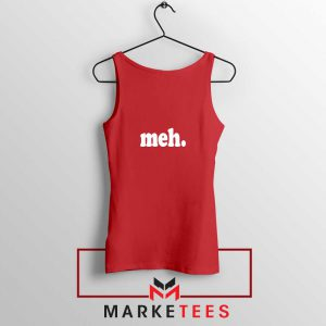 Cheap Meh Red Tank Top