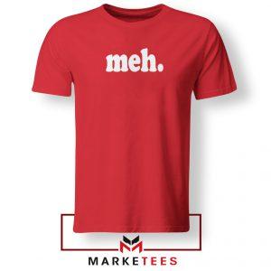 Cheap Meh Red Tshirt