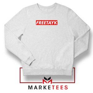 Free Tay K 47 White Sweatshirt
