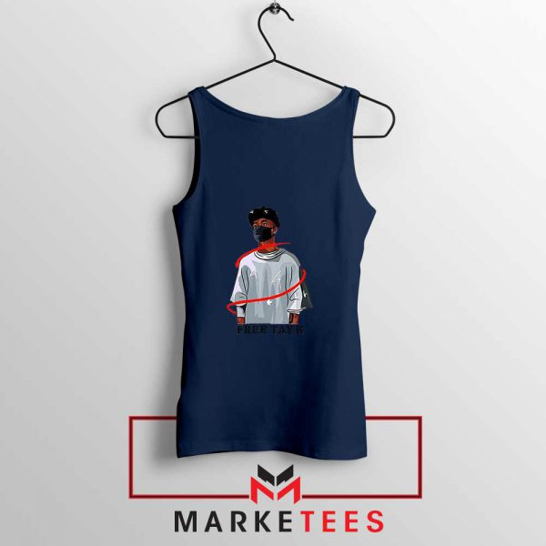 Free Tay K Navy Blue Tank Top