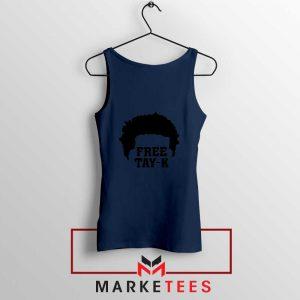 Free Tay K Rapper Navy Blue Tank Top