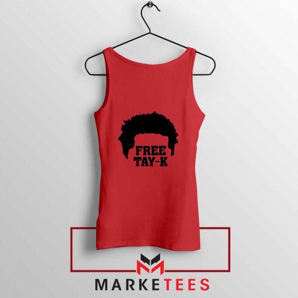 Free Tay K Rapper Red Tank Top