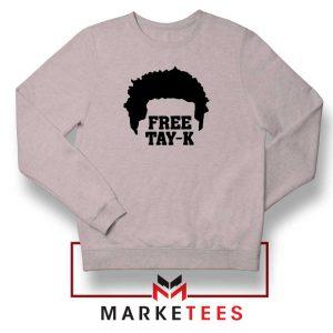Free Tay K Rapper Sport Grey Sweatshirt