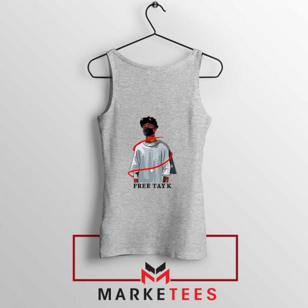 Free Tay K Sport Grey Tank Top