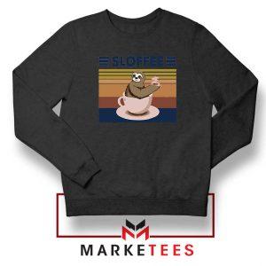 Funny Sloffee Black Sweatshirt
