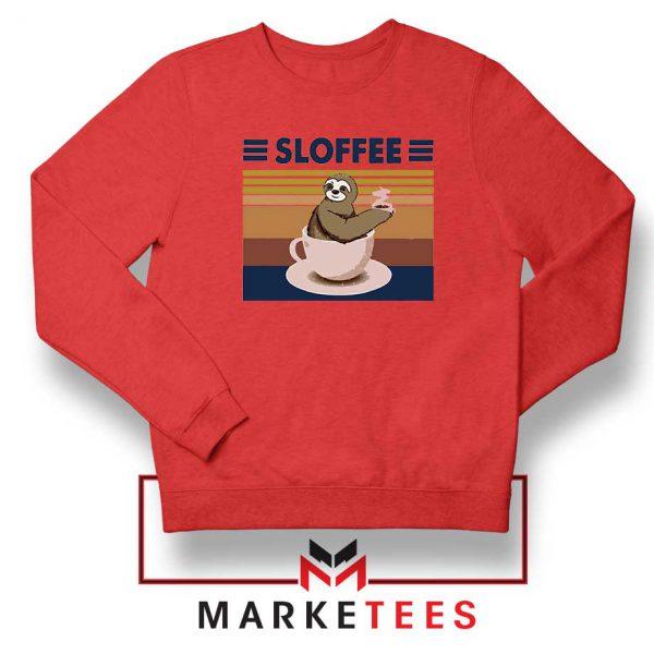 Funny Sloffee Red Sweatshirt