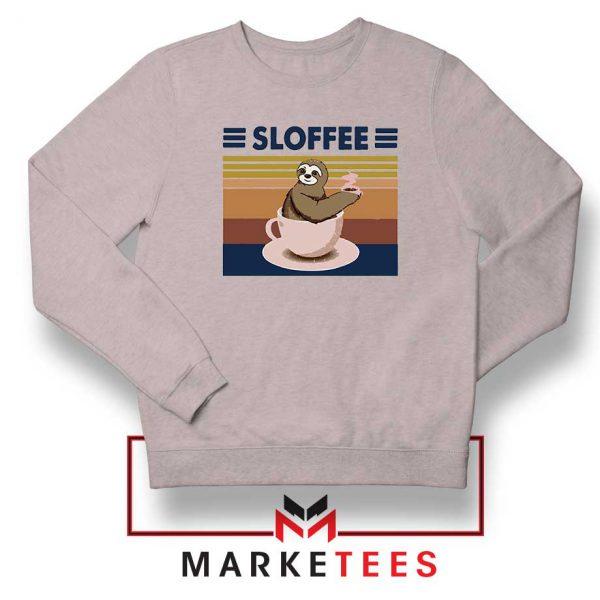 Funny Sloffee Sport Grey Sweatshirt