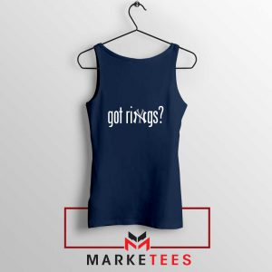 Got Rings Navy Blue Tank Top