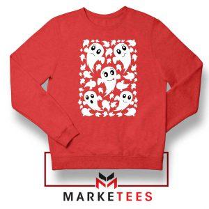 Halloween Ghosts Red Sweatshirt