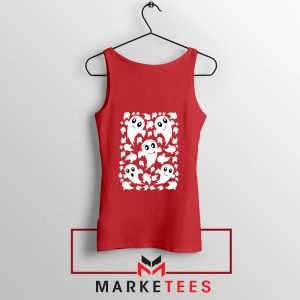 Halloween Ghosts Red Tank Top