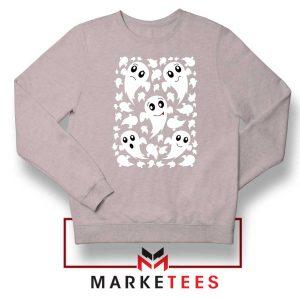 Halloween Ghosts Sport Grey Sweatshirt