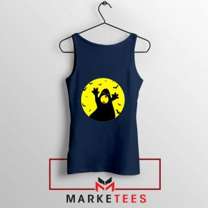 Halloween Time Navy Blue Tank Top