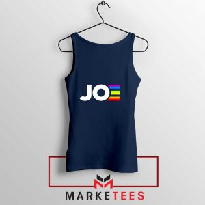 Joe Kamala Rainbow Navy Blue Tank Top
