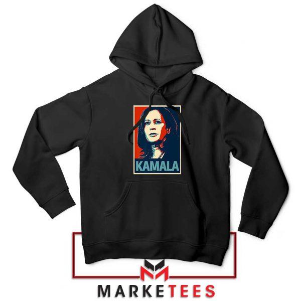 Kamala Harris Poster Black Hoodie