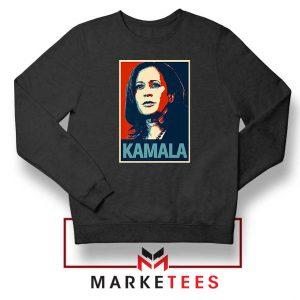 Kamala Harris Poster Black Sweatshirt