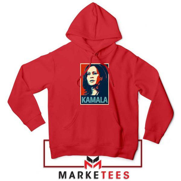 Kamala Harris Poster Red Hoodie