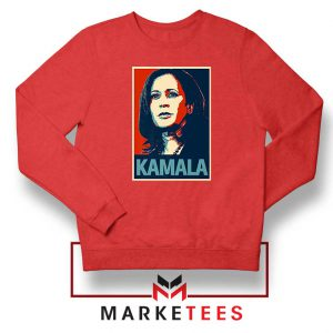 Kamala Harris Poster Red Sweatshirt