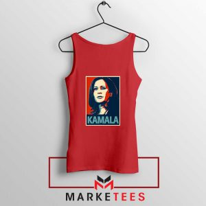 Kamala Harris Poster Red Tank Top