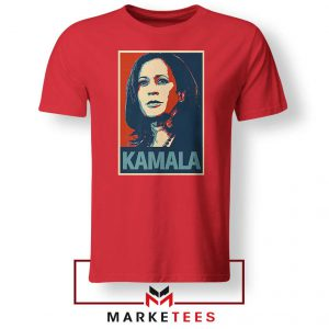 Kamala Harris Poster Red Tshirt