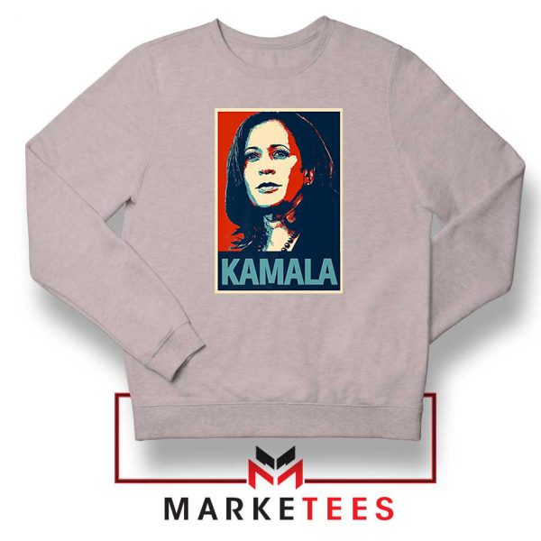 Kamala Harris Poster Sport Grey Sweatshirt