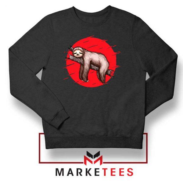Lazy Sloth Black Sweatshirt