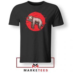Lazy Sloth Black Tshirt