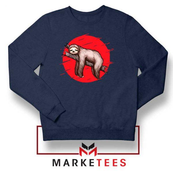 Lazy Sloth Navy Blue Sweatshirt