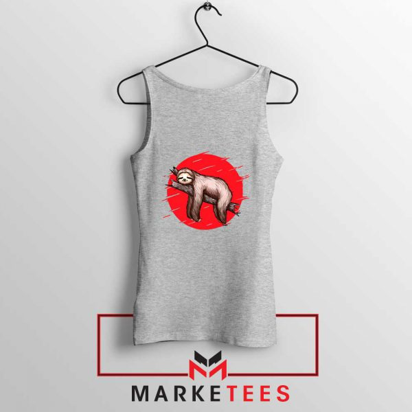 Lazy Sloth Sport Grey Tank Top