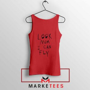 Look Mom I Can Fly Red Tank Top