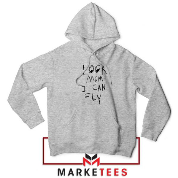 Look Mom I Can Fly Sport Grey Hoodie