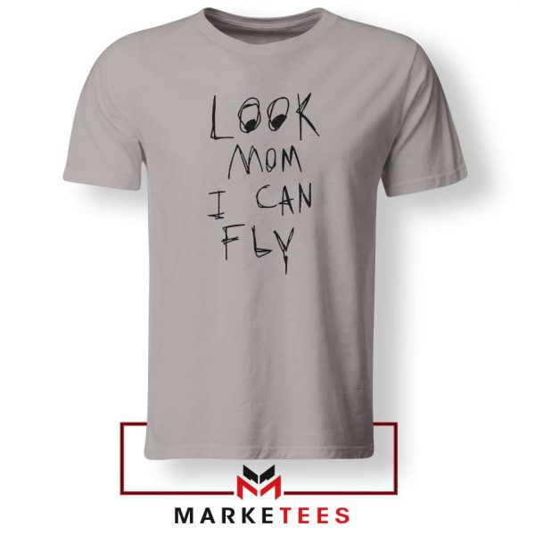 Look Mom I Can Fly Sport Grey Tshirt