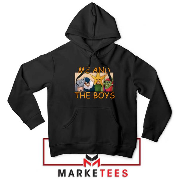 Me And The Boys Graphic Black Hoodie