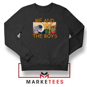 Me And The Boys Graphic Black Sweatshirt