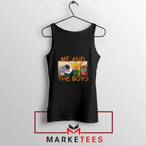 Me And The Boys Graphic Black Tank Top
