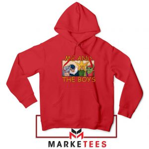 Me And The Boys Graphic Red Hoodie
