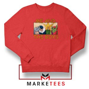 Me And The Boys Graphic Red Sweatshirt