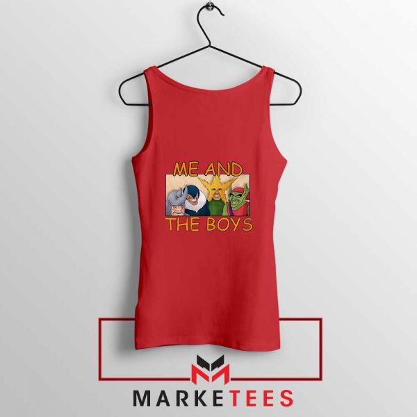 Me And The Boys Graphic Red Tank Top