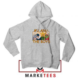 Me And The Boys Graphic Sport Grey Hoodie