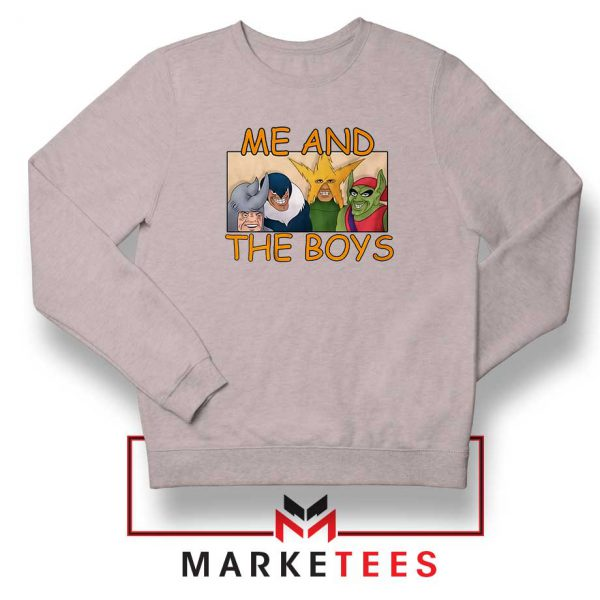 Me And The Boys Graphic Sport Grey Sweatshirt