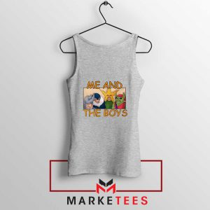 Me And The Boys Graphic Sport Grey Tank Top