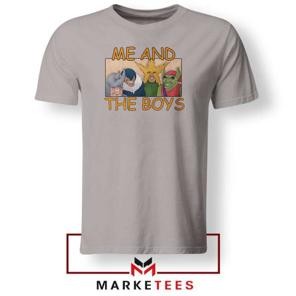 Me And The Boys Graphic Sport Grey Tshirt