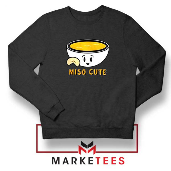 Miso Cute Black Sweatshirt
