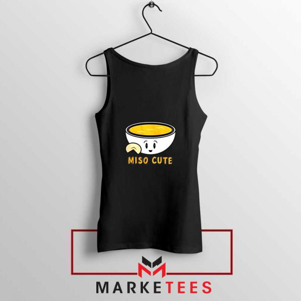 Miso Cute Black Tank Top