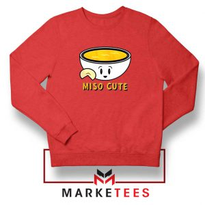 Miso Cute Red Sweatshirt