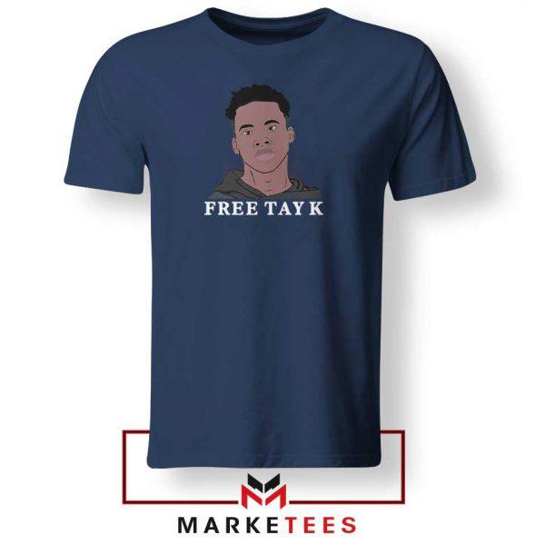 Rapper Free Tay K Navy Blue Tshirt